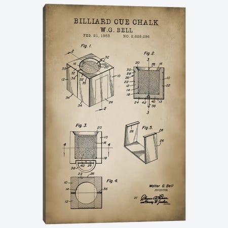 Billiard VII Canvas Print #PAT17} by PatentPrintStore Canvas Wall Art