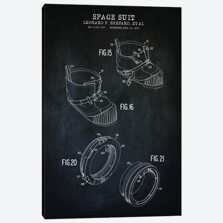Spacesuit IV Canvas Print #PAT183} by PatentPrintStore Art Print