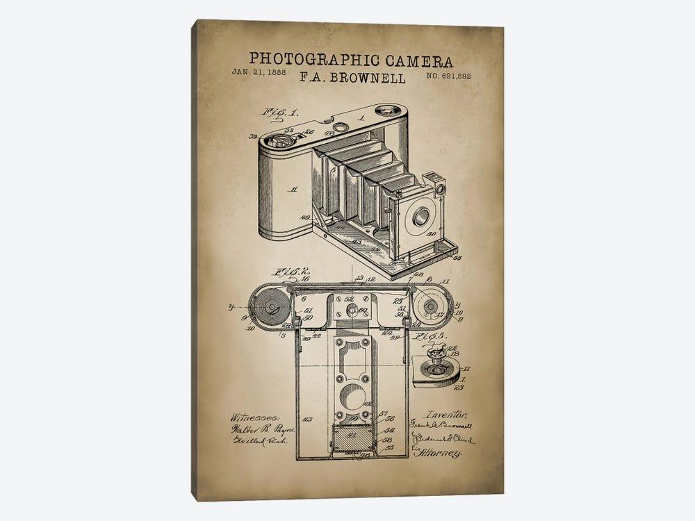 Brownell Camera, Beige by PatentPrintStore 1-piece Art Print