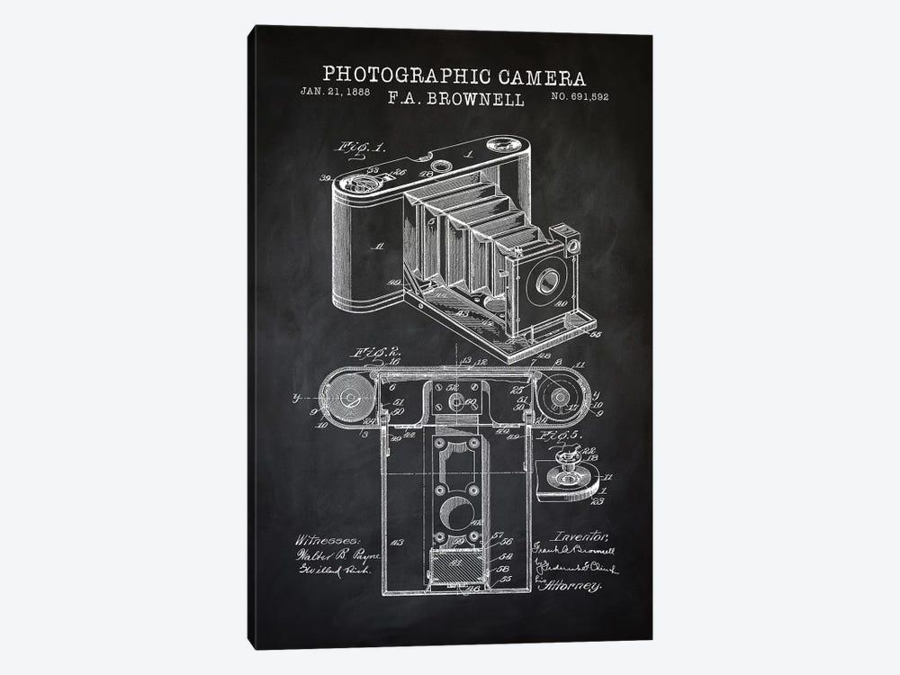 Brownell Camera, Black by PatentPrintStore 1-piece Canvas Artwork