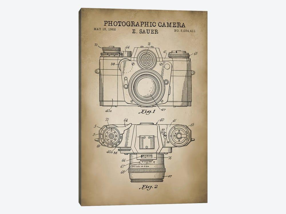 1962 Sauer Camera, Beige by PatentPrintStore 1-piece Art Print