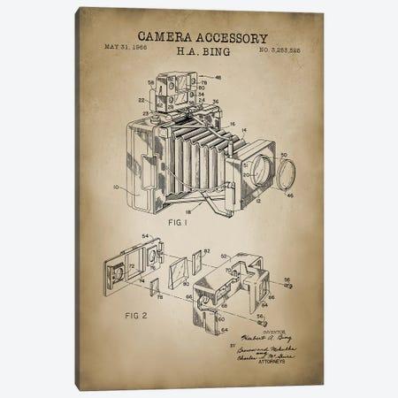 Camera Accessory, Beige Canvas Print #PAT20} by PatentPrintStore Canvas Artwork