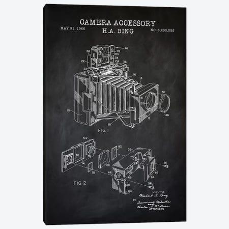 Camera Accessory, Black Canvas Print #PAT21} by PatentPrintStore Canvas Wall Art