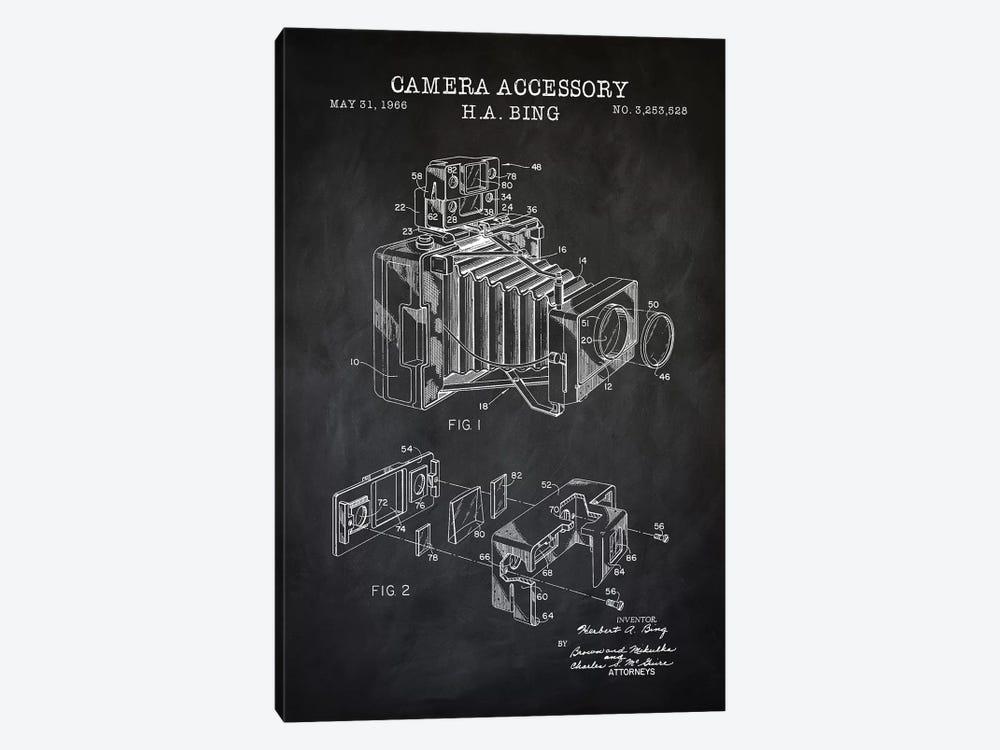 Camera Accessory, Black by PatentPrintStore 1-piece Canvas Art Print
