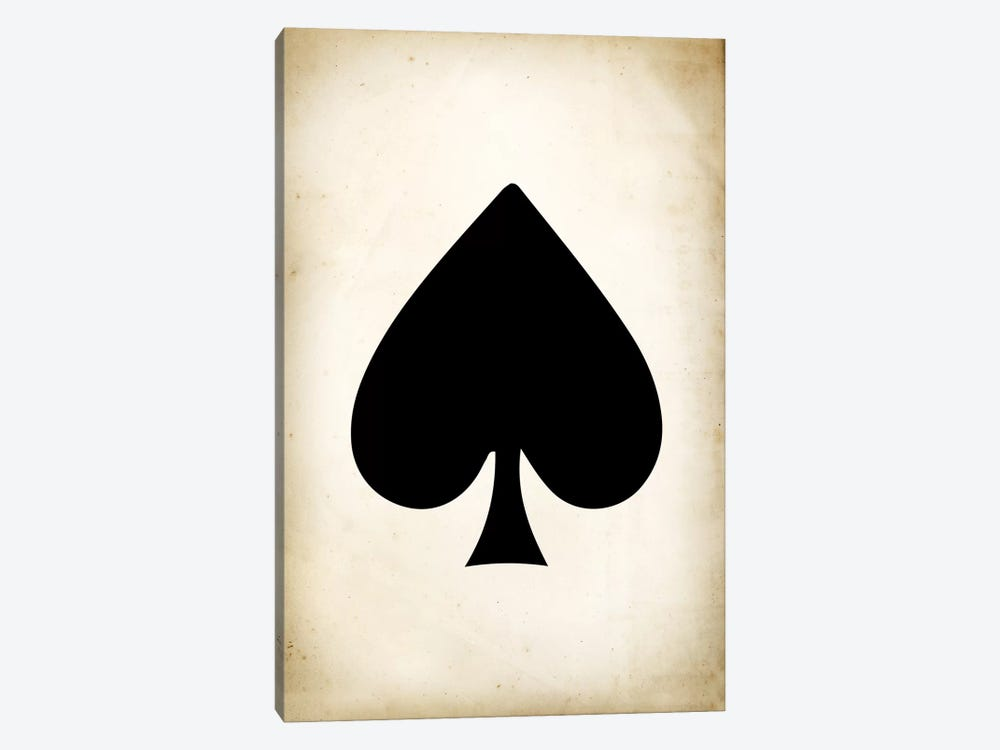 Card II: Spade by PatentPrintStore 1-piece Canvas Wall Art