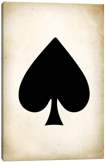 Card II: Spade Canvas Art Print