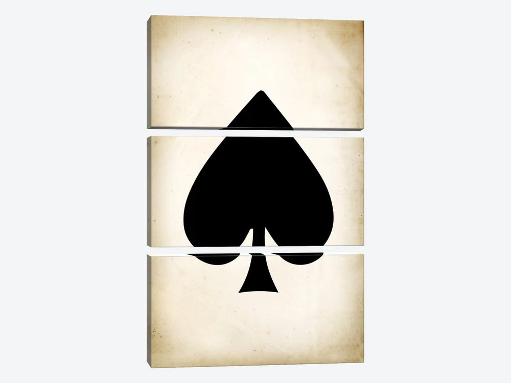 Card II: Spade by PatentPrintStore 3-piece Canvas Wall Art