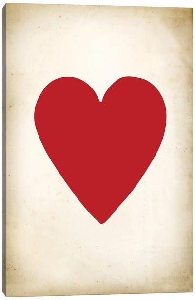 Card III: Heart Canvas Art Print