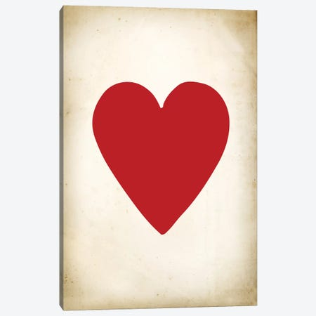 Card III: Heart Canvas Print #PAT25} by PatentPrintStore Art Print