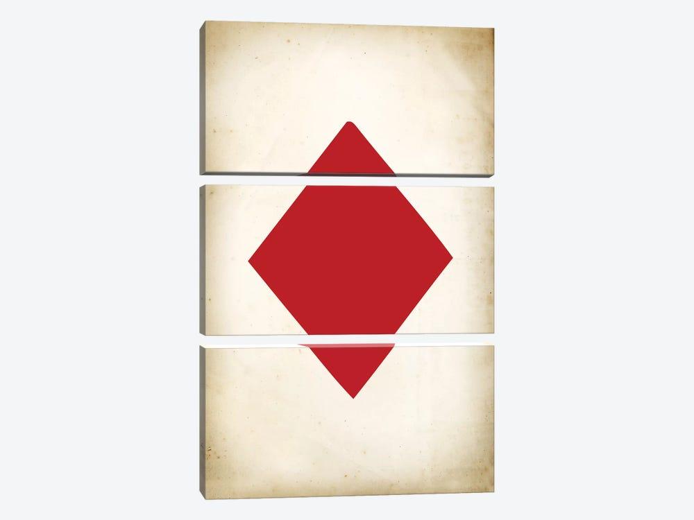 Card IV: Diamond by PatentPrintStore 3-piece Canvas Art