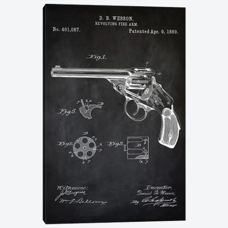 D.B. Wesson Revolver I Canvas Print #PAT29} by PatentPrintStore Canvas Art