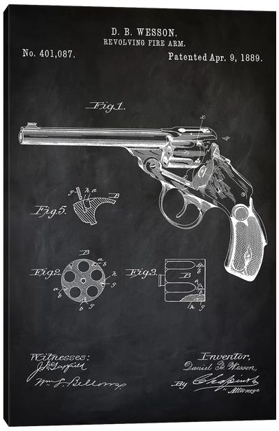 D.B. Wesson Revolver I Canvas Art Print