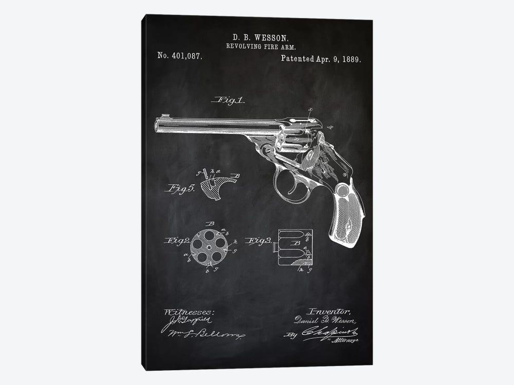 D.B. Wesson Revolver I by PatentPrintStore 1-piece Art Print