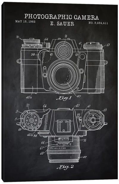 1962 Sauer Camera, Black Canvas Art Print