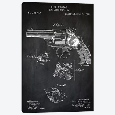 D.B. Wesson Revolver II Canvas Print #PAT30} by PatentPrintStore Canvas Art Print