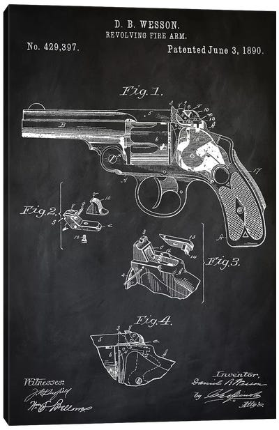 D.B. Wesson Revolver II Canvas Art Print