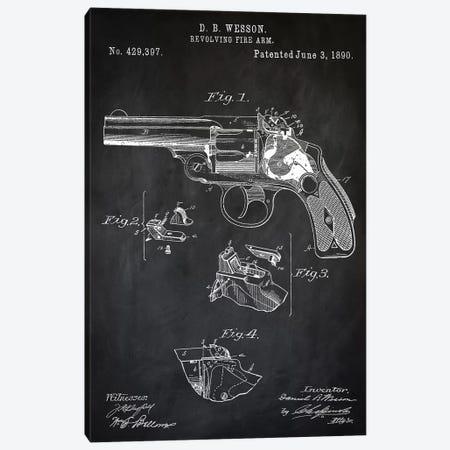 D.B. Wesson Revolver II Canvas Print #PAT30} by PatentPrintStore Canvas Art Print
