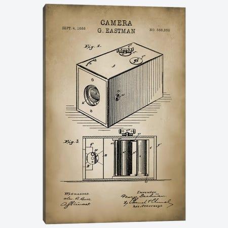 Eastman Camera, Beige Canvas Print #PAT32} by PatentPrintStore Canvas Art Print