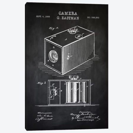 Eastman Camera, Black Canvas Print #PAT33} by PatentPrintStore Art Print