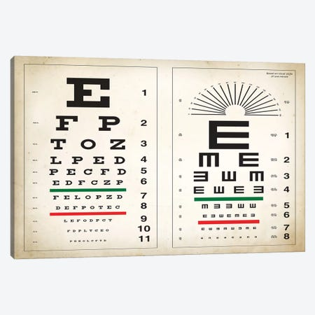 Eye Chart Canvas Print #PAT37} by PatentPrintStore Canvas Wall Art