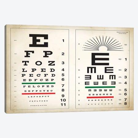 Eye Chart Canvas Print #PAT37} by PatentPrintStore Canvas Wall Art