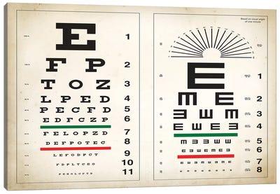 Eye Chart Canvas Art Print