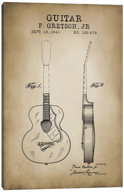 F. Gretsch, Jr. Guitar Canvas Art Print