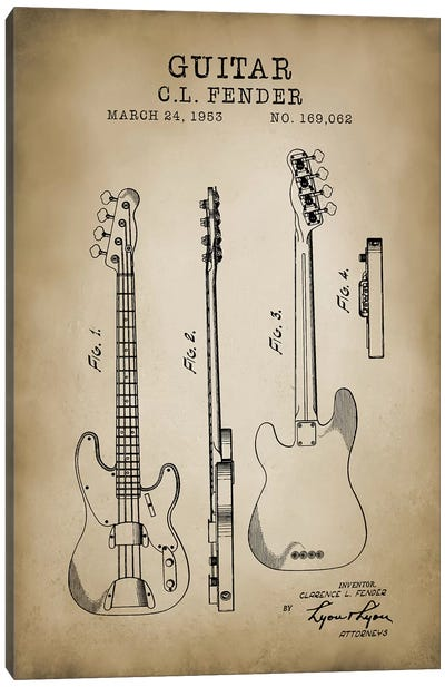 Fender Guitar Canvas Art Print
