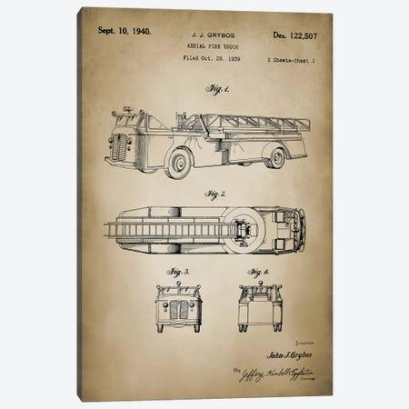 Firefight I Canvas Print #PAT46} by PatentPrintStore Canvas Print
