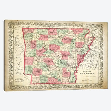 Arkansas Canvas Print #PAT4} by PatentPrintStore Canvas Print