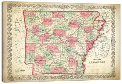 Arkansas Canvas Art Print