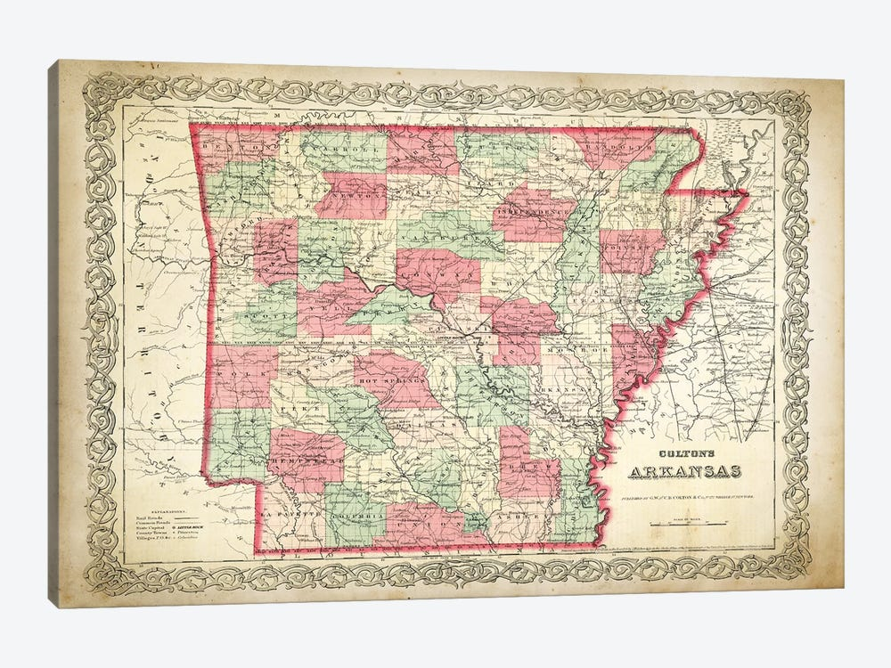 Arkansas by PatentPrintStore 1-piece Canvas Artwork