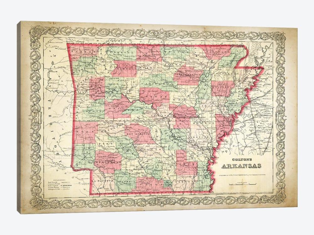 Arkansas by PatentPrintStore 1-piece Canvas Artwork