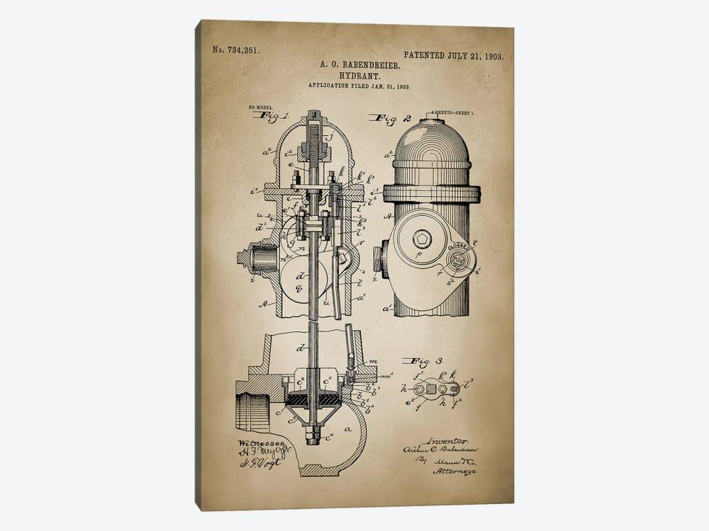 Firefight V by PatentPrintStore 1-piece Canvas Art