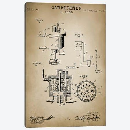 "Ford ""Carbureter"" Canvas Print #PAT57} by PatentPrintStore Canvas Art"