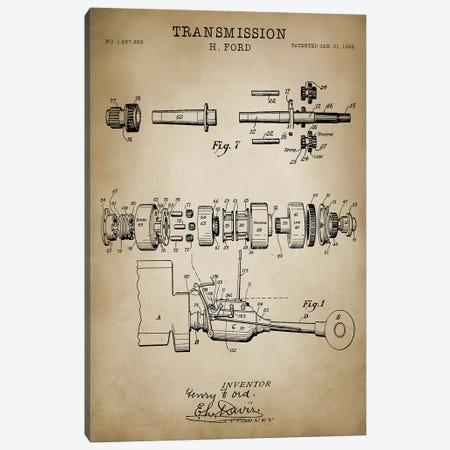Ford Transmission, 1928 Canvas Print #PAT59} by PatentPrintStore Art Print