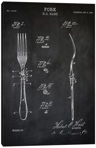 Fork Canvas Art Print