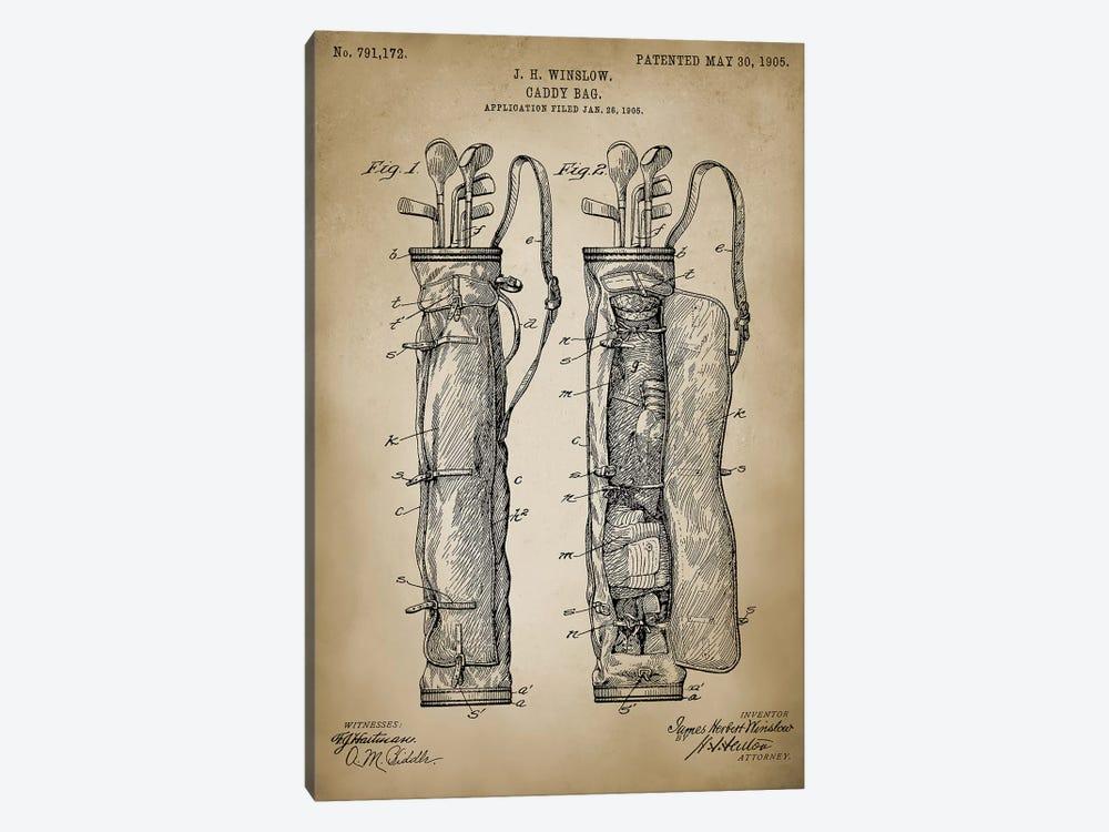 Golf Bag by PatentPrintStore 1-piece Canvas Print