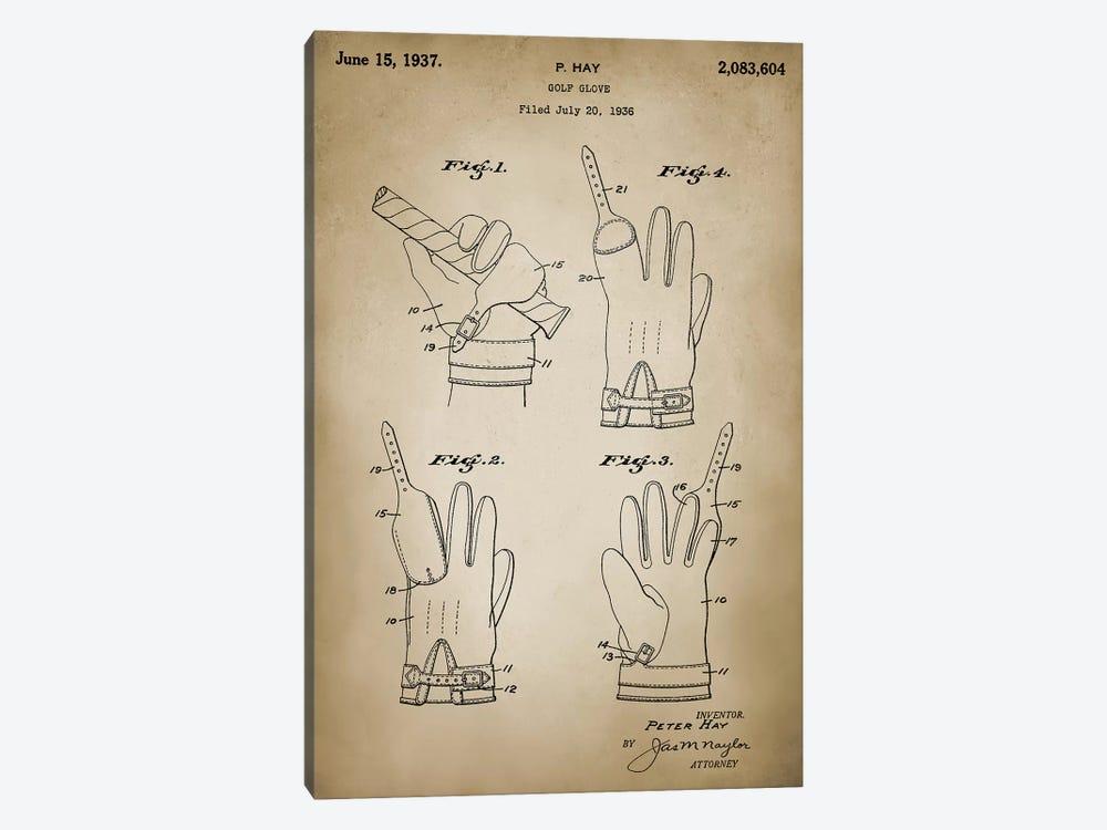Golf Glove by PatentPrintStore 1-piece Canvas Art