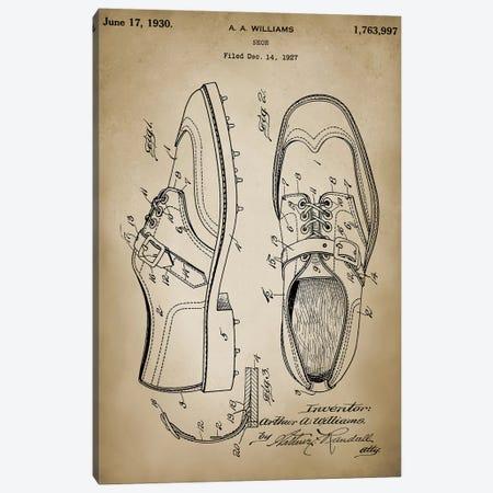 Golf Shoes Canvas Print #PAT65} by PatentPrintStore Art Print