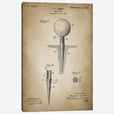 Golf Tee Canvas Print #PAT66} by PatentPrintStore Canvas Print