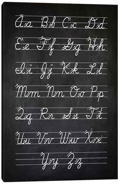 Handwriting I Canvas Art Print