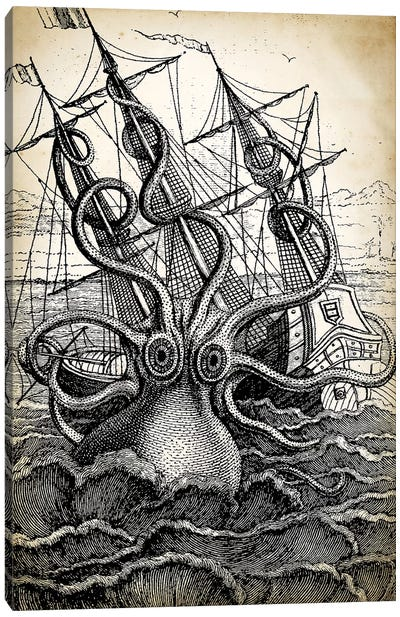 Kraken Canvas Art Print