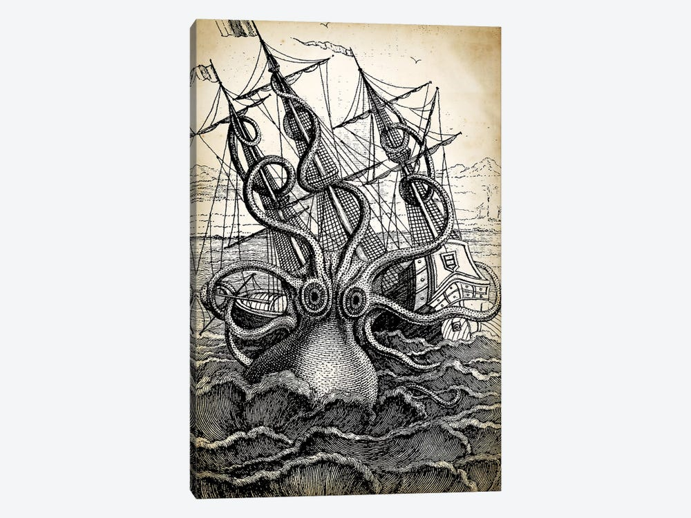 Kraken by PatentPrintStore 1-piece Canvas Artwork