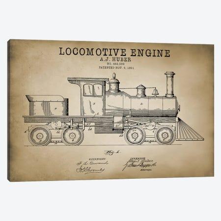 Locomotive Engine, 1891 Canvas Print #PAT84} by PatentPrintStore Art Print