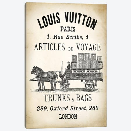 LV  Trunks & Bags Canvas Print #PAT87} by PatentPrintStore Canvas Print