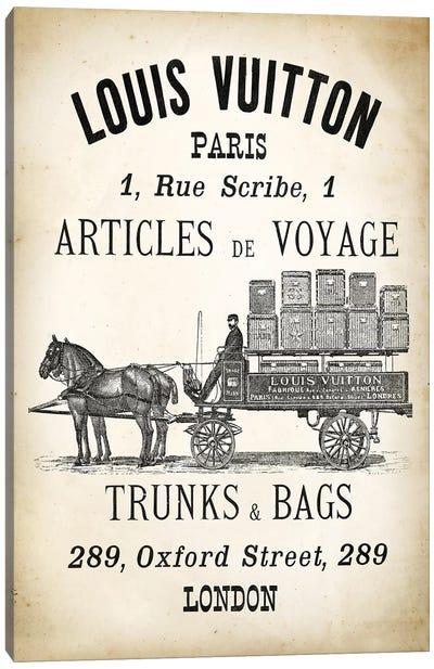 LV  Trunks & Bags Canvas Art Print