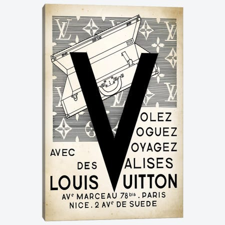 LV Valise Canvas Print #PAT89} by PatentPrintStore Canvas Artwork