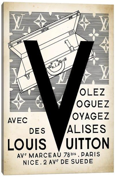 LV Valise Canvas Art Print