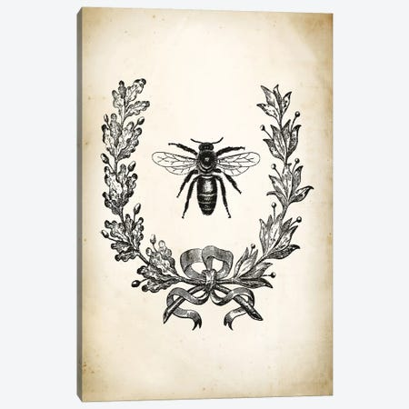 Bee Canvas Print #PAT8} by PatentPrintStore Canvas Artwork